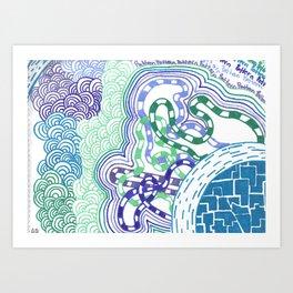 Rhapsody in cool colours  Art Print