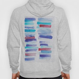 2  | 181101 Watercolour Palette Abstract Art | Lines | Stripes | Hoody
