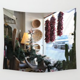 Christmastime Cacti Wall Tapestry