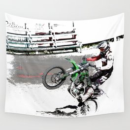 Making a Stand - Freestyle Motocross Rider Wall Tapestry