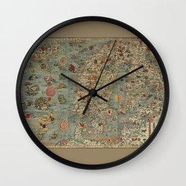 Carta Marina et Description 1539 Wall Clock