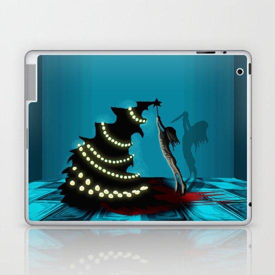 BLACK XMAS: Decorating the Christmas Tree Laptop & iPad Skin