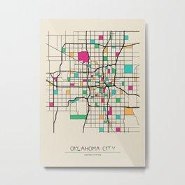 Colorful City Maps: Oklahoma City, USA Metal Print