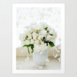 Rosas blancas Art Print