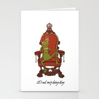 kermit Stationery Cards featuring King Kermit by Kid Rose