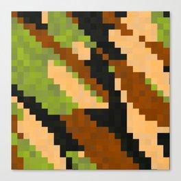 Pixelated Camo Canvas Print