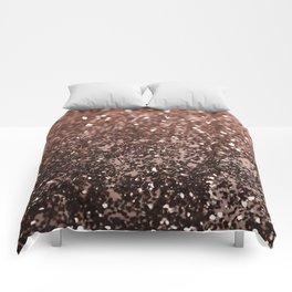 Rose Gold Glitter #1 #sparkling #decor #art #society6 Comforters