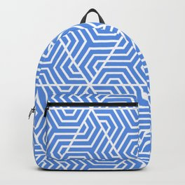 United Nations blue - turquoise - Geometric Seamless Triangles Pattern Backpack
