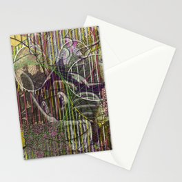 A Strict Code for Mourning Flowers Stationery Cards