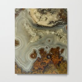 Colorfull pattern of a mineral stone Metal Print
