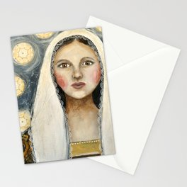 icon woman Stationery Cards