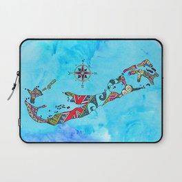 Bermuda Map Blue Laptop Sleeve