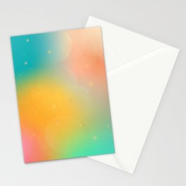 Celestial Galaxy Abstract Stationery Cards