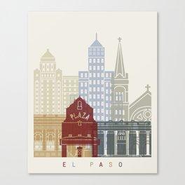 El Paso skyline poster Canvas Print