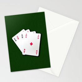 Poker of Aces Stationery Cards