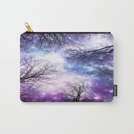 Black Trees Violet Purple Blue Space Carry-All Pouch