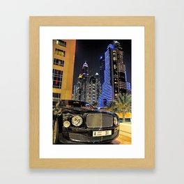 Bentley Mulsanne in Dubai Framed Art Print