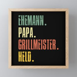Funny Father's Day Gift Father's Day Dad Framed Mini Art Print