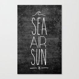 Sea, Air & Sun Canvas Print
