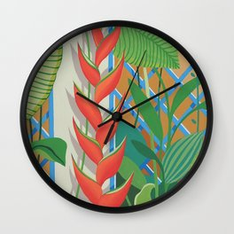 HELICONIA FLOWERS Wall Clock