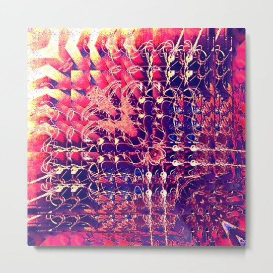 07-27-13 (Chandelier Glitch) Metal Print