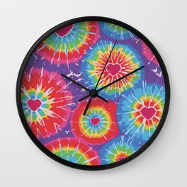 Love Tye Dye Wall Clock