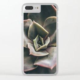 Suculenta Clear iPhone Case