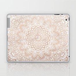 Mandala - rose gold and white marble 3 Laptop & iPad Skin
