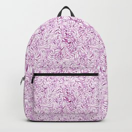 violet garden leaf pattern Backpack