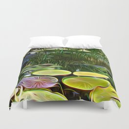Greenery Pond Duvet Cover