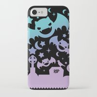 pastel goth iPhone & iPod Cases featuring Creepy Cute Fairy Kei Pastel Goth Bats, Stars, and Crescent Moons by KawaiiMachine