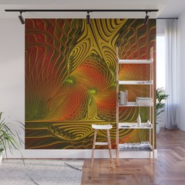 Mysterious and Luminous, Abstract Fractal Art Wall Mural
