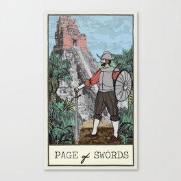 Page of Swords / Conquistador Canvas Print