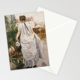 Young Woman Watering a Shrub (Morisot 1876) Stationery Cards
