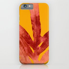 Green Fern on Red On Fire iPhone Case