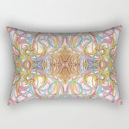 flower-circle-mirror Rectangular Pillow