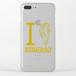 I love archaeology Clear iPhone Case