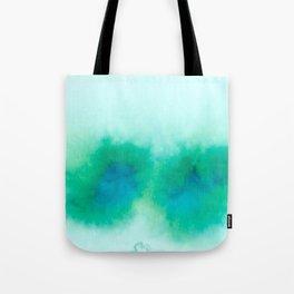 Green Blue Haze Tote Bag