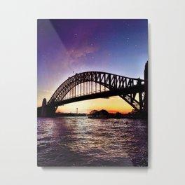 Harbour Bridge Sunset Metal Print