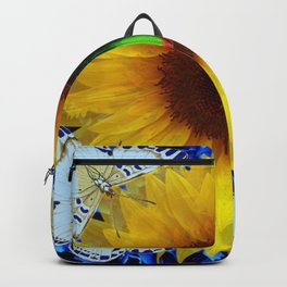 EMERALD GOLD BUG ON SUNFLOWER BUTTERFLY Backpack
