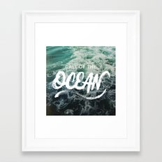 Call of the Ocean Framed Art Print