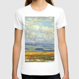 Classical Masterpiece 'Oregon Landscape' by Frederick Childe Hassam T-shirt