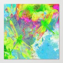 Painting Dragonflies ZZ Canvas Print