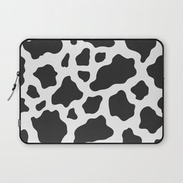 Black and White Cow Print Laptop Sleeve