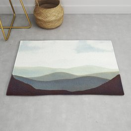 Mountains Storm Rug