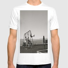 The Swing Set Mens Fitted Tee White MEDIUM