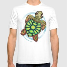 Baby Sea Turtle Mens Fitted Tee White MEDIUM