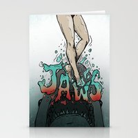 jaws Stationery Cards featuring Jaws by Samantha McKeown