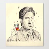 mulder Canvas Prints featuring Mulder by withapencilinhand