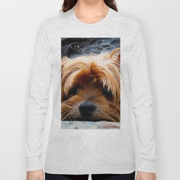 Cute Dog Puppy Yorkie Long Sleeve T-shirt